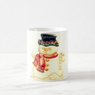 muñeco de nieve taza clásica