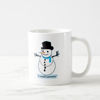 muñeco de nieve taza de café