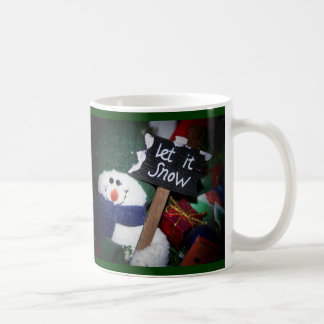 muñeco de nieve tazas de café