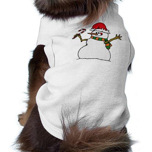 Muñeco de nieve tonto camisa de perro