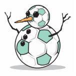 muñeco de nieve tonto del balón de fútbol escultura fotográfica