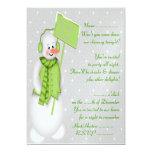 Muñeco de nieve (verde) - invitación
