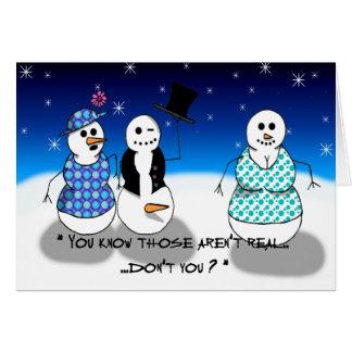 Muñeco de nieve viejo sucio tarjeta de felicitación