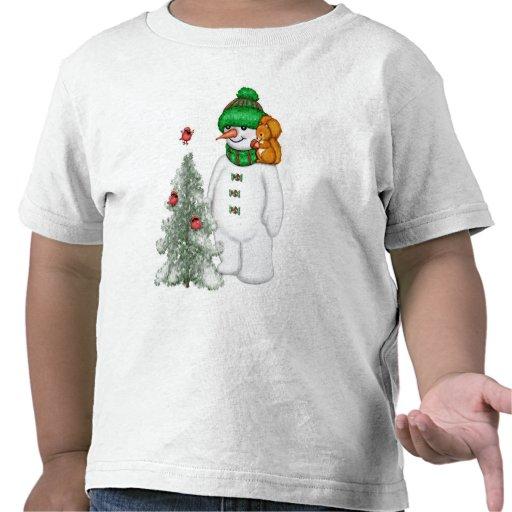 Muñeco de nieve y amigos camiseta