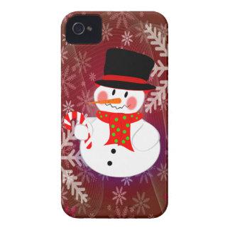 Muñeco de nieve y Candycane Case-Mate iPhone 4 Protector