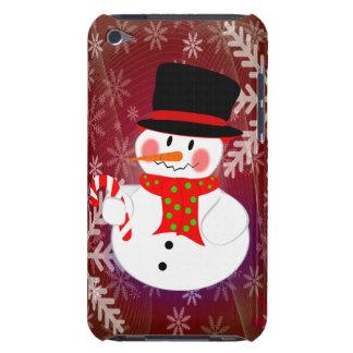 Muñeco de nieve y Candycane iPod Touch Protector
