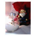 Muñeco de nieve y gnomo membrete personalizado