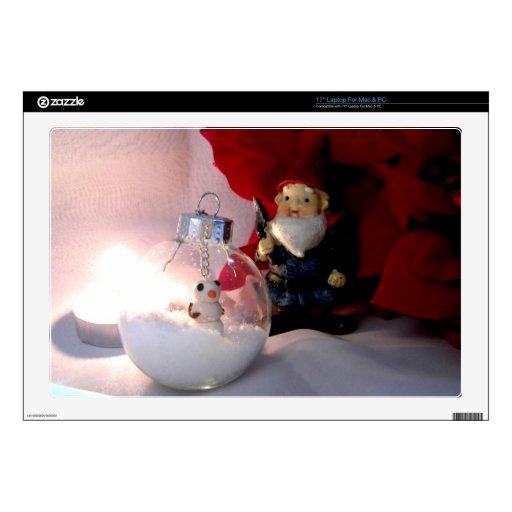Muñeco de nieve y gnomo portátil calcomanía