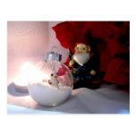 Muñeco de nieve y gnomo postal