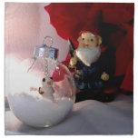 Muñeco de nieve y gnomo servilletas