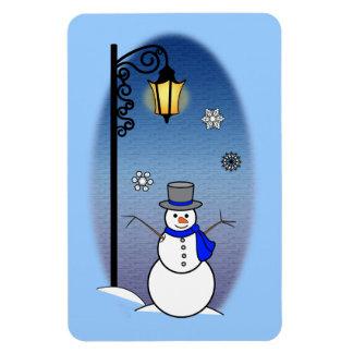 Muñeco de nieve y Lamppost Imanes De Vinilo