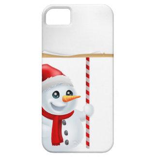 Muñeco de nieve y muestra del navidad iPhone 5 Case-Mate carcasas