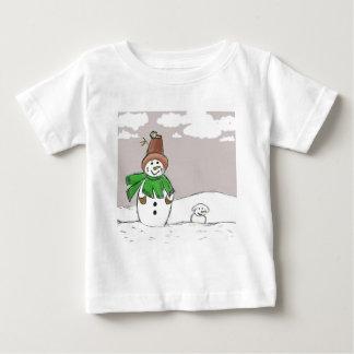 Muñeco de nieve y Snowdog Camisetas
