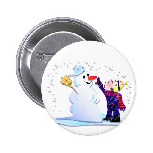 muñeco de nieve y su chica pins