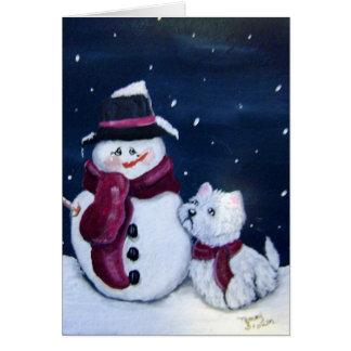 Muñeco de nieve y tarjeta de felicitación de Westi