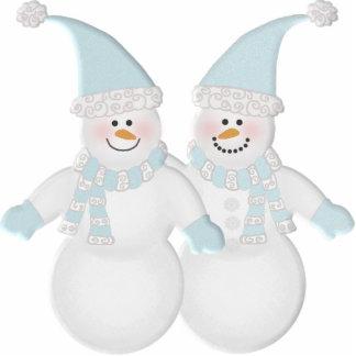 Muñecos de nieve adorablemente lindos esculturas fotograficas