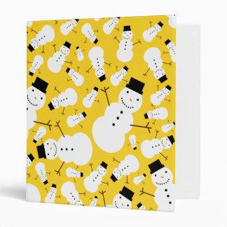 """Muñecos de nieve amarillos carpeta 1"""""""