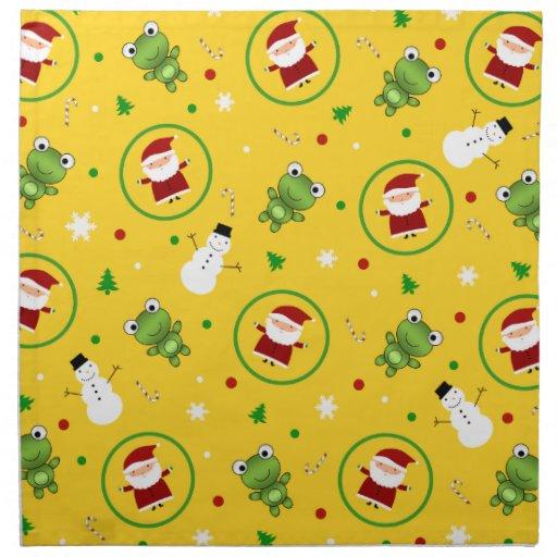Muñecos de nieve amarillos de Papá Noel de las Servilletas