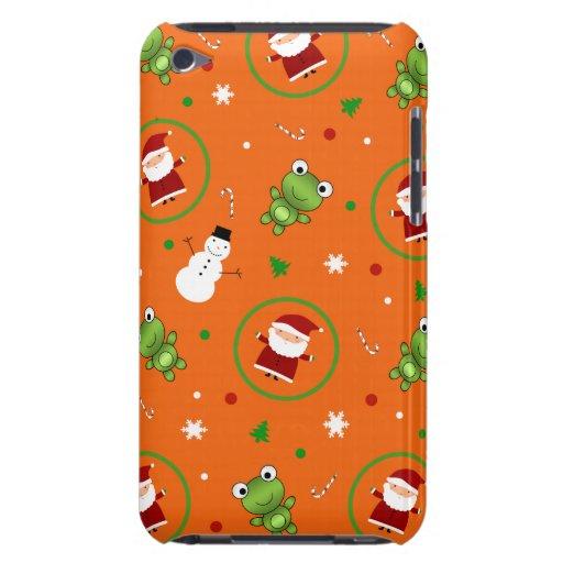 Muñecos de nieve anaranjados de Papá Noel de las iPod Touch Cárcasa