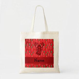 Muñecos de nieve conocidos personalizados del rojo bolsas lienzo
