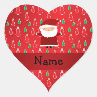 Muñecos de nieve conocidos personalizados del rojo pegatina corazon