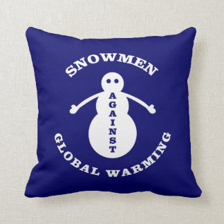 Muñecos de nieve contra el calentamiento del plane cojines