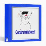 ¡Muñecos de nieve de graduación - enhorabuena!