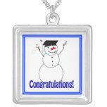 ¡Muñecos de nieve de graduación - enhorabuena! Grimpolas