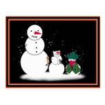 Muñecos de nieve de Halloween del truco o de la Postal