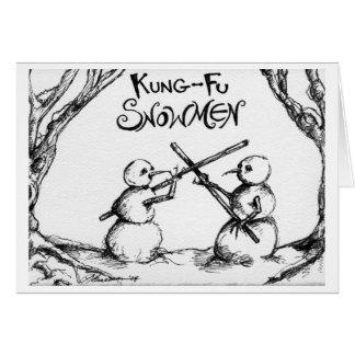 Muñecos de nieve de Kung Fu Tarjeta De Felicitación