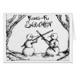 Muñecos de nieve de Kung Fu Tarjetón