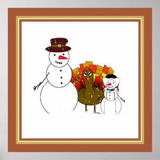 Muñecos de nieve de la acción de gracias impresiones