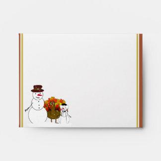 Muñecos de nieve de la acción de gracias