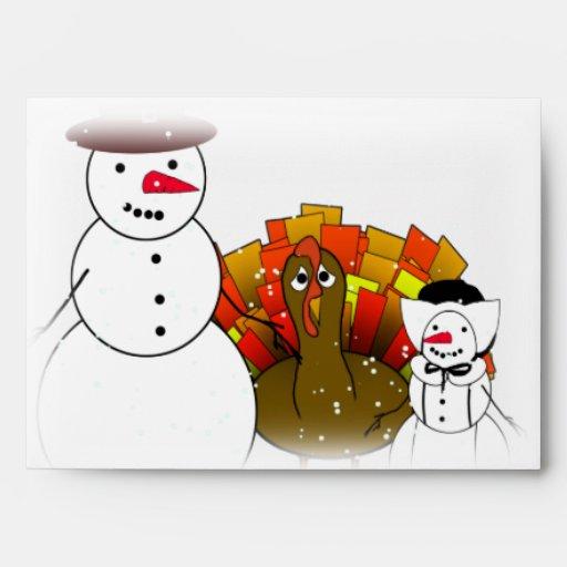 Muñecos de nieve de la acción de gracias sobre