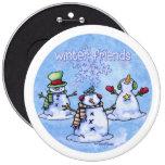 Muñecos de nieve de los amigos del invierno pin