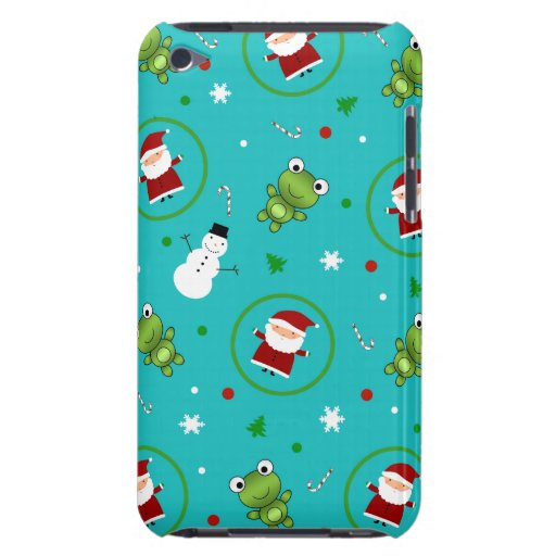 Muñecos de nieve de Papá Noel de las ranas de la Case-Mate iPod Touch Cobertura
