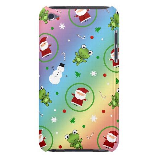 Muñecos de nieve de Papá Noel de las ranas del Case-Mate iPod Touch Funda