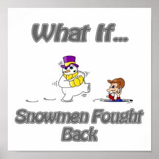 Muñecos de nieve defendidos póster