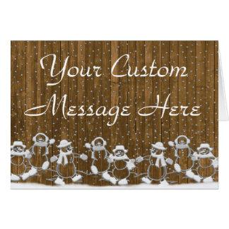 Muñecos de nieve del baile tarjeta de felicitación