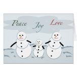 Muñecos de nieve del día de fiesta del amor de la  tarjeton