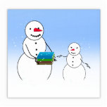 Muñecos de nieve del dibujo animado que vuelven a  esculturas fotográficas