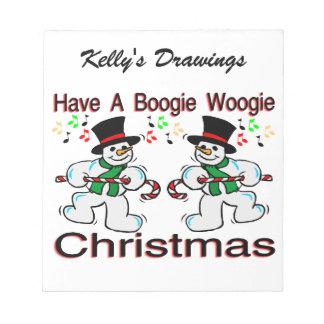 Muñecos de nieve del navidad de Woogie de la Blocs