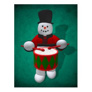 Muñecos de nieve del vintage: Batería Postales