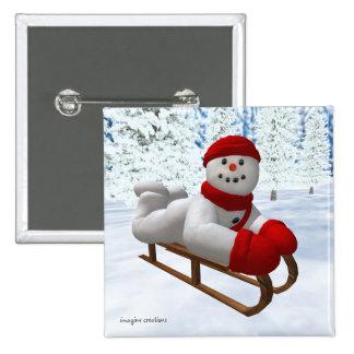 Muñecos de nieve del vintage: Sledder Pin