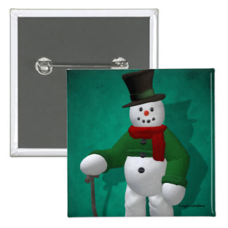 Muñecos de nieve del vintage: Sr. Cratchit Pins