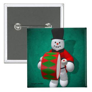Muñecos de nieve del vintage: Timpanist Pin