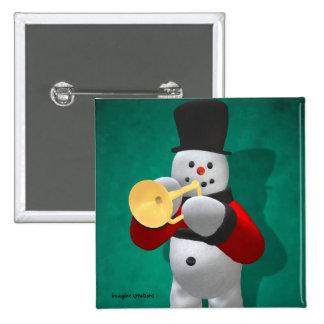 Muñecos de nieve del vintage: Trompetista Pins