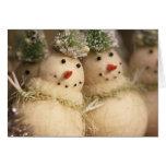 Muñecos de nieve felicitaciones