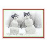 Muñecos de nieve grandes del gorra del arco comunicados