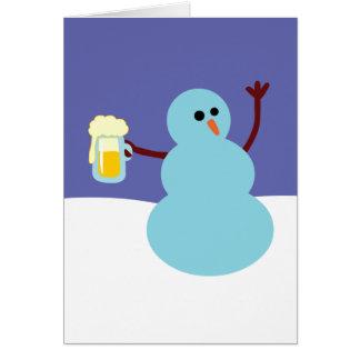 ¡Muñecos de nieve idos salvajes! Tarjeta De Felicitación